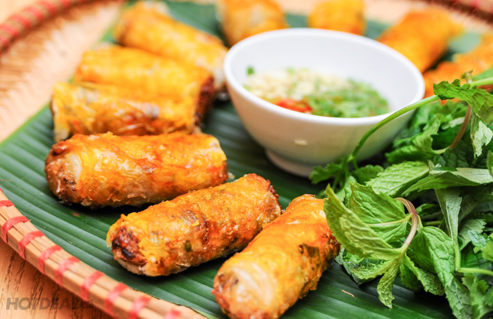 Vietnamese Grilled Spring Rolls