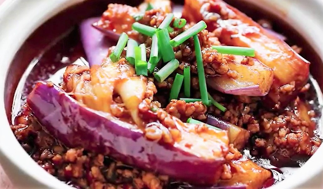 eggplant with pork mince