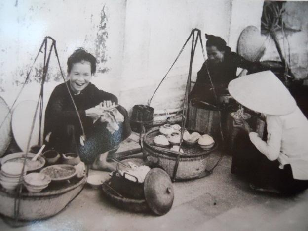 Vintage photo of Hanoi street food