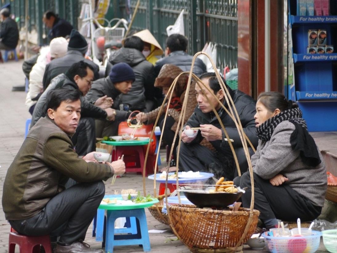 Bun Dau (Rice noodle with fried tofu) -, a popular dish on every Hanoi streets