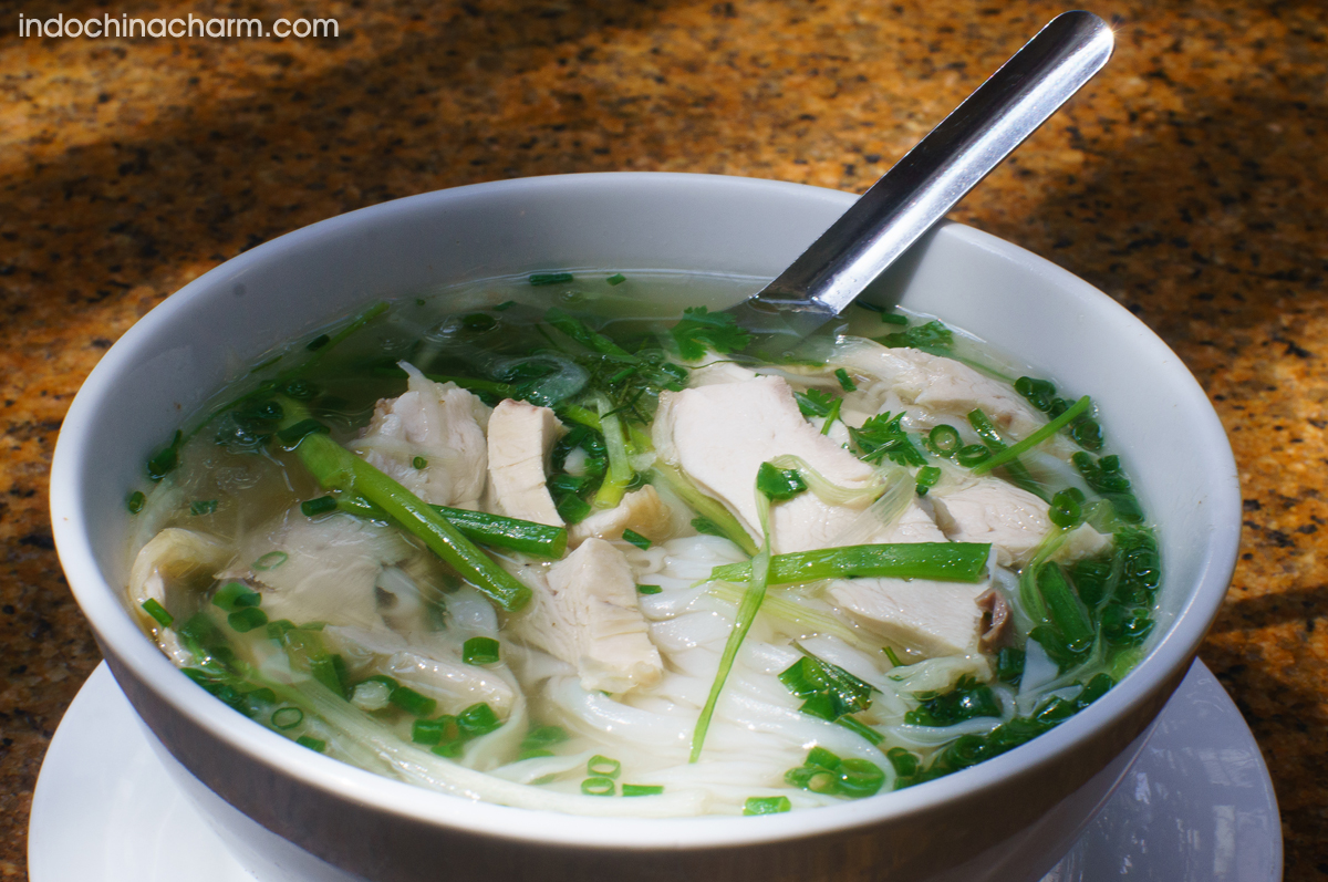 Pho noodle soup - The popular street food in Hanoi