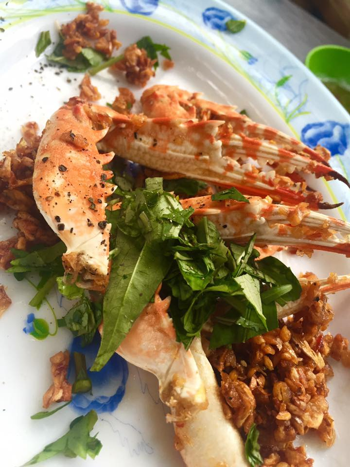 Crab fried with salt