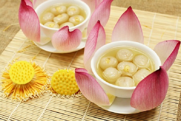 Lotus flower in Vietnamese cuisine of Hue