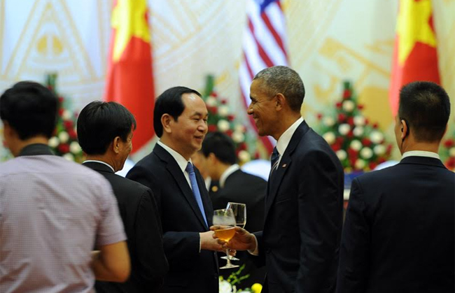 The US President Barack Obama in Vietnam