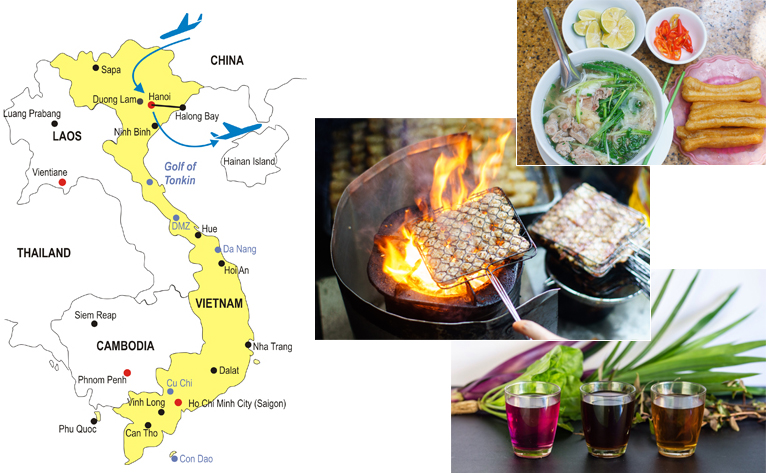 5-Day Hanoi Culinary Tour Map