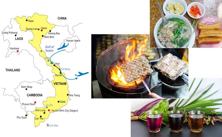 5-Day Hue Hoi An Culinary Tour Map