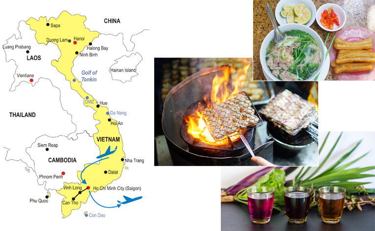 5-Day Saigon Culinary Tour Map