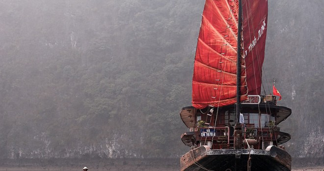 Luxury Junk for overnight stay on Halong Bay