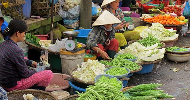 Vegetable Shop at Dong Ba Market, Hue