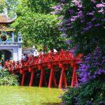 Ngoc Son Temple at Hoan Kiem Lake in Hanoi