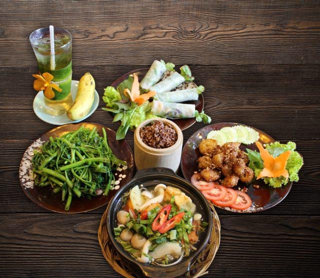 Vegetarian combo meal at Rice restaurant