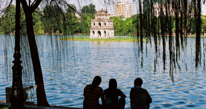 At the central lake of Hanoi