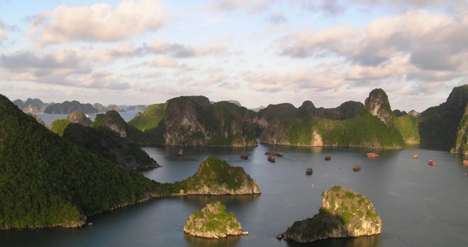 Panorama View of Halong Bay