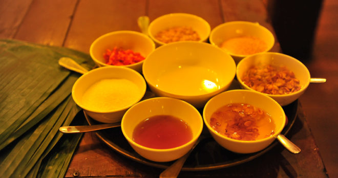 Several types of Vietnamese sauce