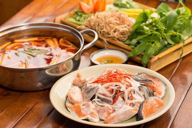 Hot Pot with Salmon (Lẩu Cá Hồi)