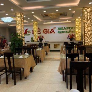 Inside Le Gia 1 restaurant in Da Nang City