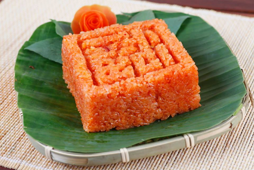 Xoi Gac - A kind of sticky rice