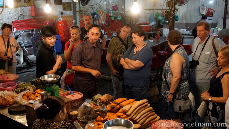 Visit to the local market on Hanoi food tour by culinaryvietnam.com